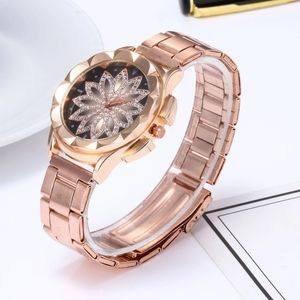 stainless steel rose gold round watch